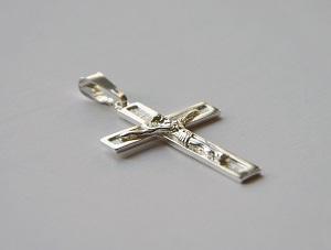 srebrny krzyżyk mały